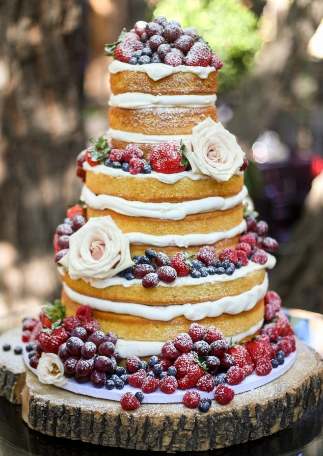 Beautiful naked wedding cake