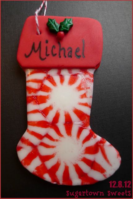 Sugartown Sweets: Peppermint Ornaments!