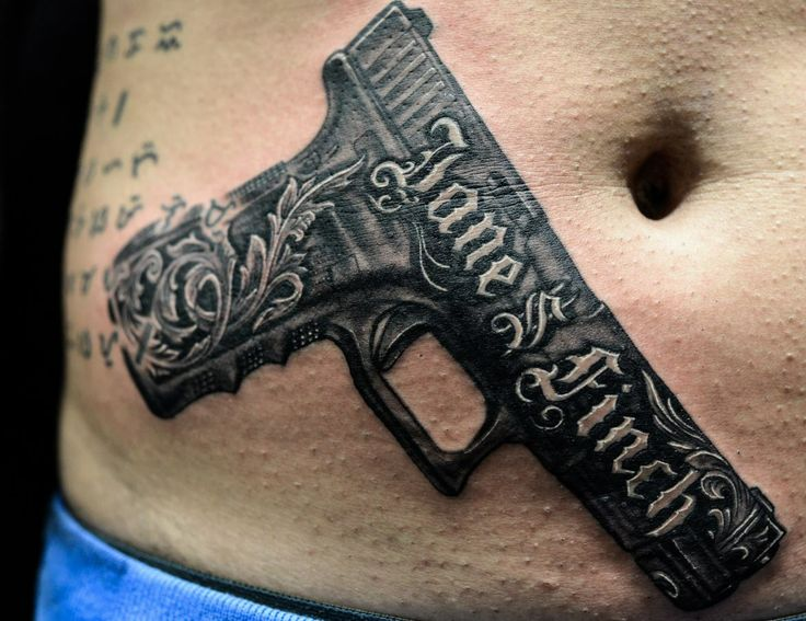 Chronic ink tattoo toronto tattoo gun tattoo by winson for How to put ink in a tattoo gun