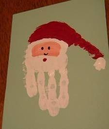 ThanksA cute Santa handprint Christmas card idea. - R. DeCaire awesome pin