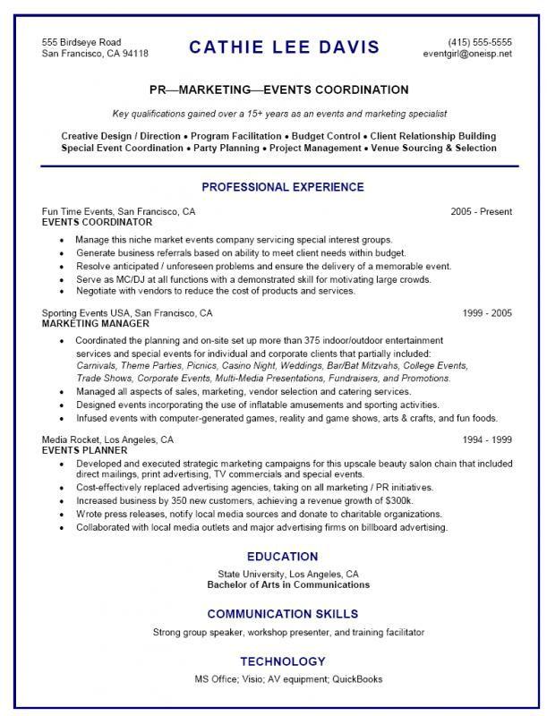 Event Planner Resume Event Planner Resume Event Planning Quotes Event Coordinator Jobs