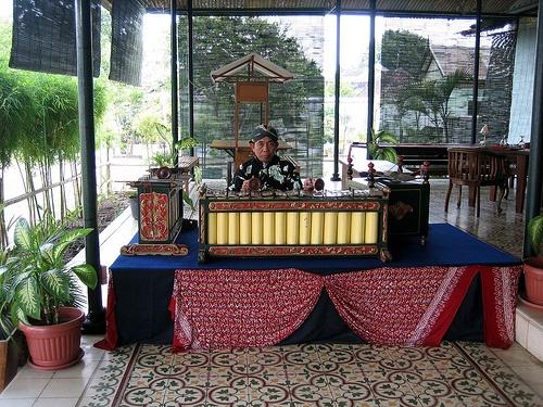 Gamelan during Lunch, Yogyakarta, Java, Indonesia