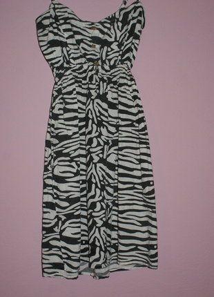 Kup mój przedmiot na #vintedpl http://www.vinted.pl/damska-odziez/krotkie-sukienki/16539474-letnia-sukienka-z-motywem-zebry