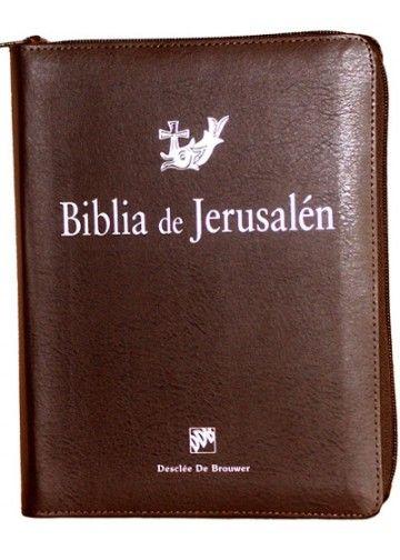 Biblia de Jerusalén manual con funda de cremallera