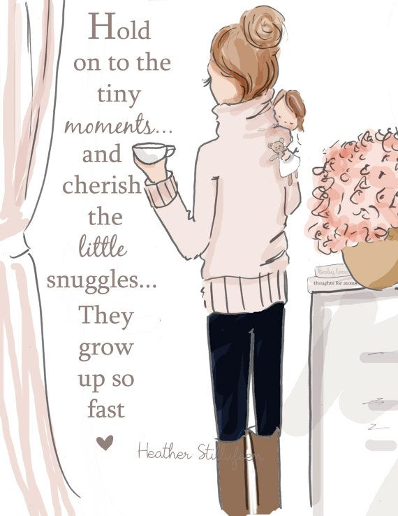 Mom quotes Wall Art for Moms and Women Tiny Moments by RoseHillDesignStudio