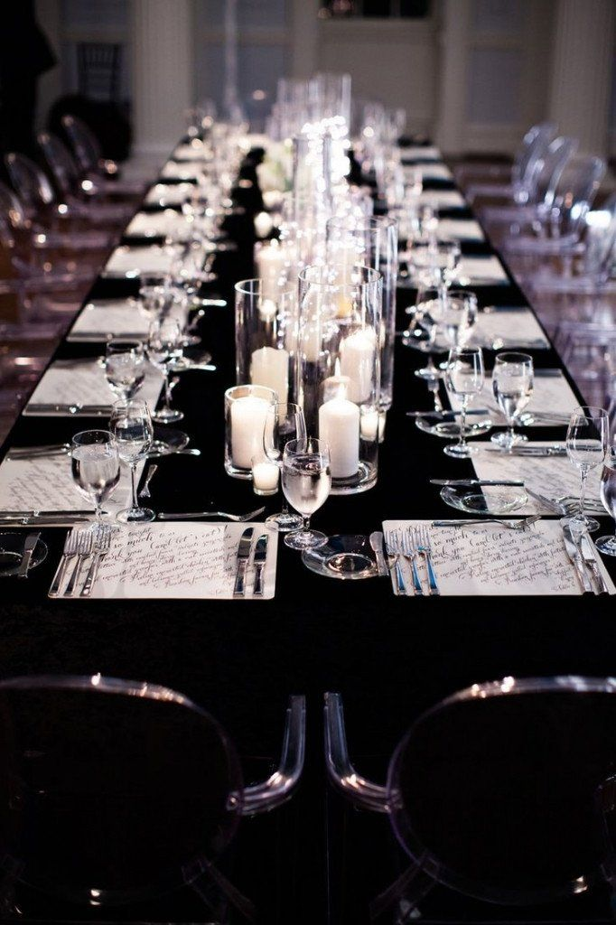 Black And Silver Table Decor Best Of 56 Black And Silver Table Settings Black And Silver Black Silver Wedding White Wedding Theme Black And White Wedding Theme