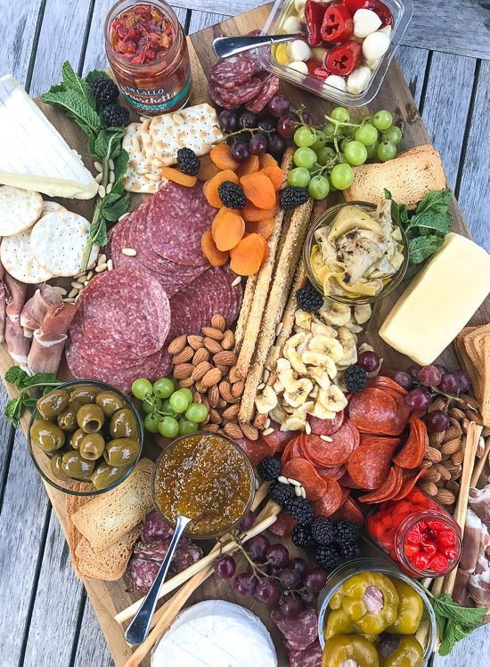 Meat and cheese boards are my go-to for super chill, no stress summer entertaining. You can load them up with all your favorite cheese, cured meats, fruit, nuts and spreads. Add some wine and baguettes and you have yourself a meal!
