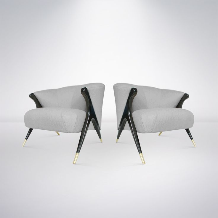 Pair Of Modernist Karpen Lounge Chairs, 1950s