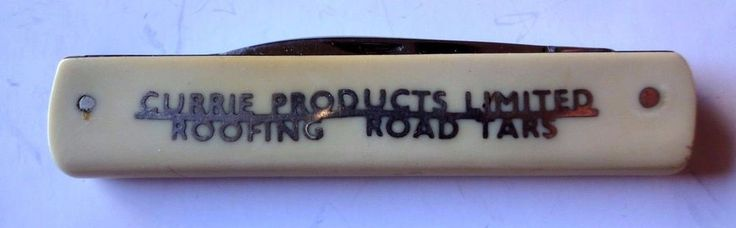 Advertising Folding Knife Currie Products Limited N.Fisher Sheffield England    #MFisher
