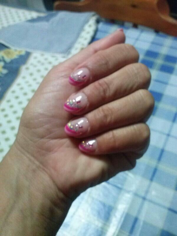 French rosa e fuxia glitter