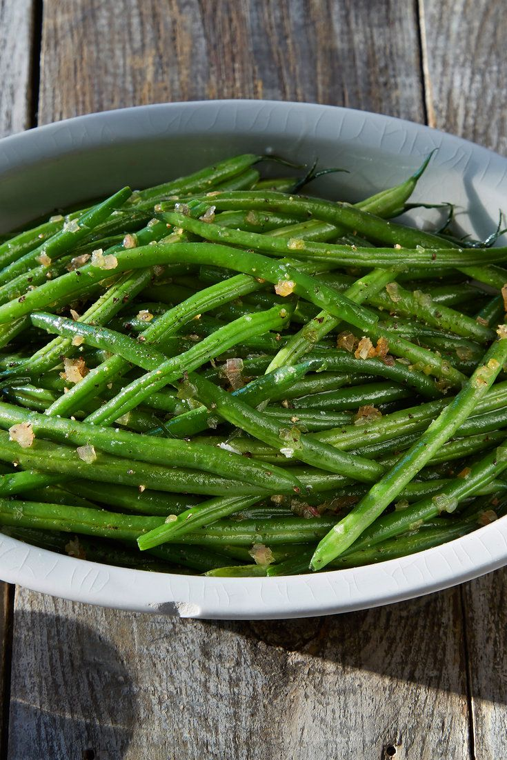 These are perfect green beans: simple flavors combined into an elegant dish that goes with almost anything. Jacques Pepin suggests a roast chicken, but they would pair equally well with a celebratory roast. (Photo: Michael Kraus for The New York Times)