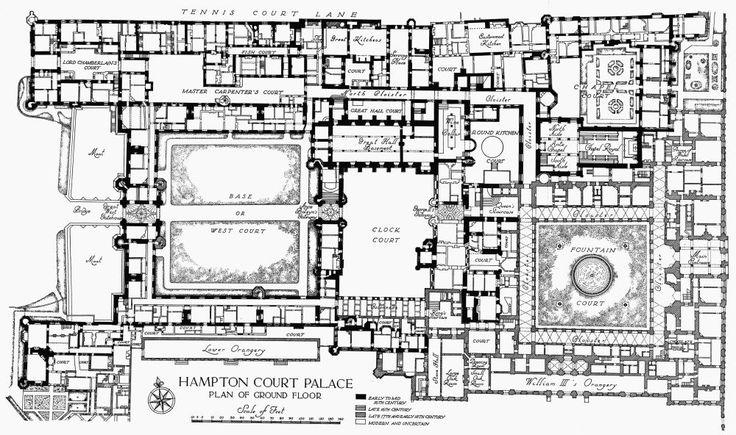 plan 1 hton court palace ground floor british