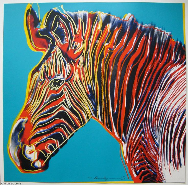 зебры по Andy Warhol (1928-1987, United States)