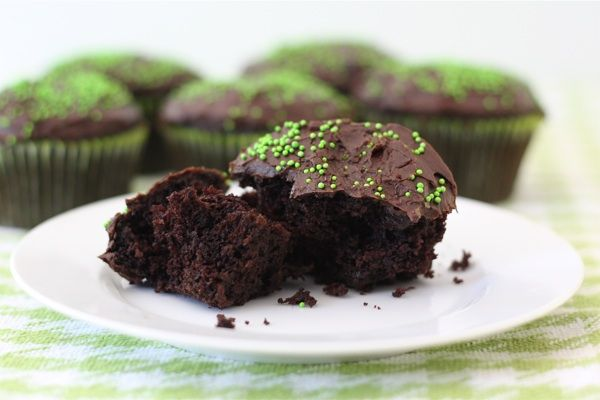 chocolate-zucchini-cupcakes. frosting not needed. ok to go light on sugar. bake for 20-25, not 30. makes 22 at least.