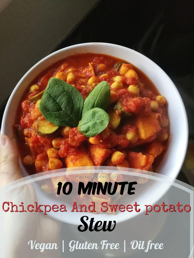 """10 minute chickpea and sweet potato stew – 10 perces csicseriborsó és édes krumpli """"pörkölt"""""""