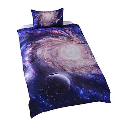 galakse dynebetræk sæt 3d sengetøj sæt – DKK kr. 453