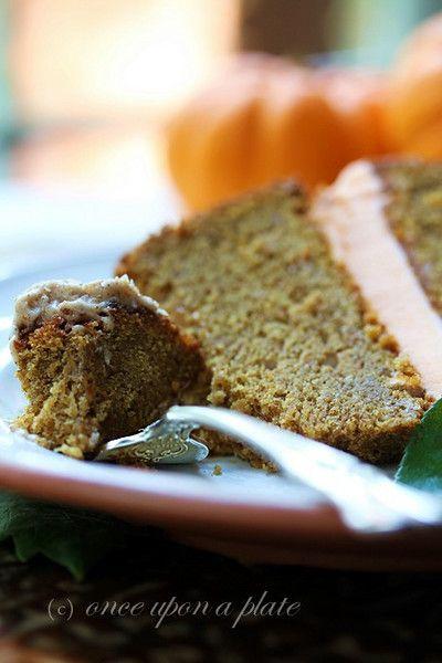 Pumpkin Spice Bundt Cake with Orange Buttercream Filling and Cinnamon ...