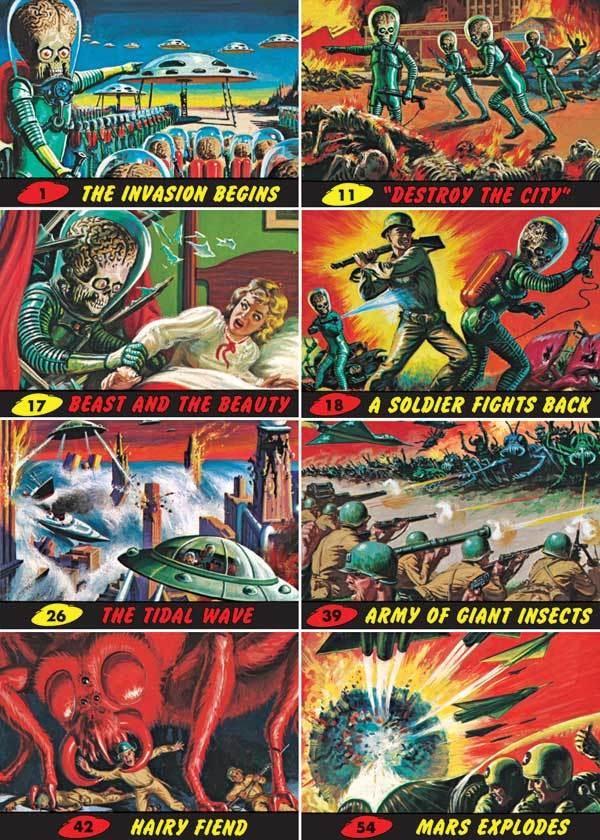 1962 Mars Attacks Trading Cards