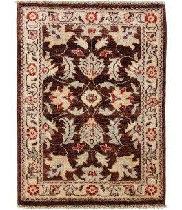 Ziegler Teppich  Dieser schöne Ziegler Teppich 00010222 stammt aus Pakistan und hat die Farbe Braun. Der Teppich ist aus hochwertigem Material Handgesponnene Wolle gefertigt und ist 62x89 cm groß, was einer Fläche von 0.55 m² entspricht. Dieser Ziegler Teppich besticht durch eine aufwendige Fertigung und einer Florhöhe von ca. 7 mm.   Verarbeitung: Handgeknüpft