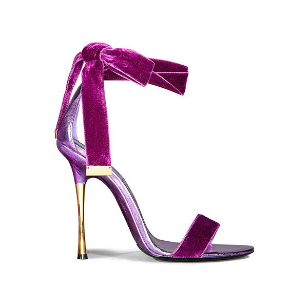 Tom Ford - Women's Shoes 2012 Spring-Summer ❤ liked on Polyvore featuring shoes, sandals, heels, tom ford, purple, purple heel shoes, heeled sandals, summer footwear, purple shoes and tom ford shoes