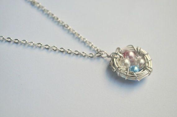 Custom Bird's Nest Necklace  Mother's Necklace  by BirdieAndDot, $20.00