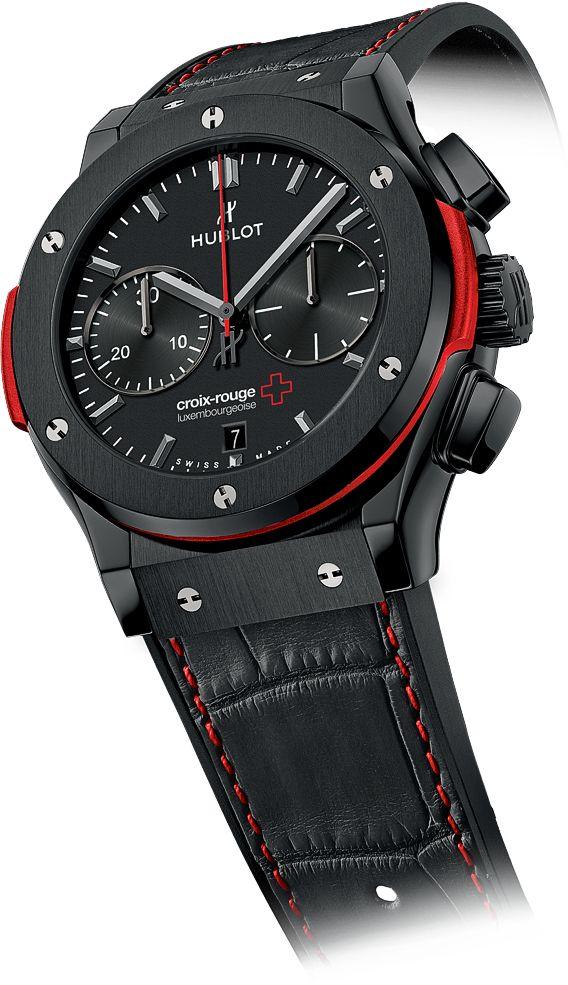 La Cote des Montres : Lorsque le Rouge rencontre le Noir : Hublot dévoile la montre unique Classic Fusion Chronograph « Croix-Rouge Luxembourgeoise »