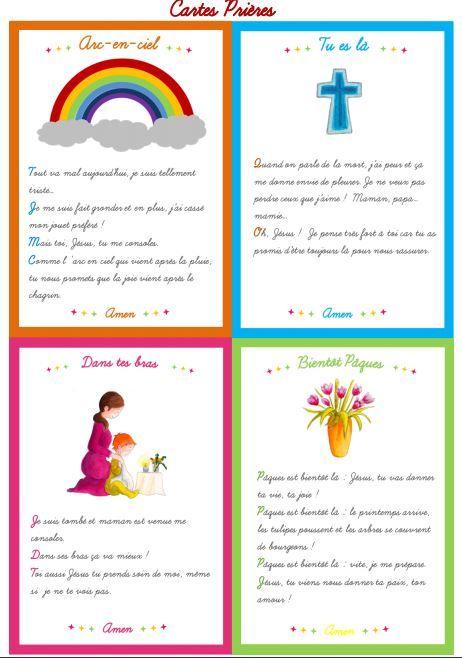 Cartes prières sur le thème de Pâques. Disponibles gratuitement dans le numéro 7 de Cap P'tit Vent, le journal pour l'éveil à la foi édité par le diocèse de Lyon. http://initiationchretienne-lyon.cef.fr/IMG/pdf/CPV_7_Web.pdf