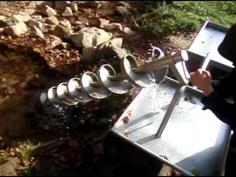 Archimedische Schraube im Wildpark Heigenbrücken