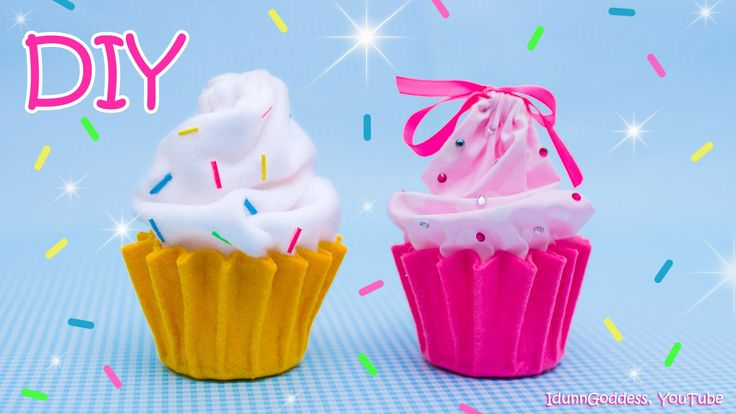 DIY Cupcake Pouch For Make-Up, Jewelry and Stationery – How To Make A Cu...