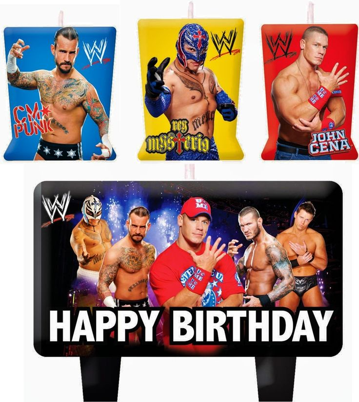 WWE Wrestling Birthday Cake Candles SET Decoration Toppers John Cena | eBay