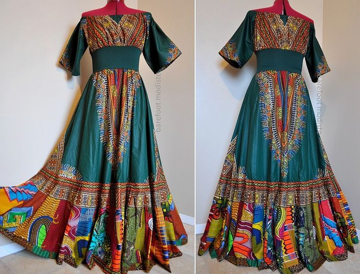 Tribal Bazaar -  Long African Patchwork Bohemian Gown, Ooak Dashiki Maxi dress,  Ideal for sizes - S to L. $162.00, via Etsy.