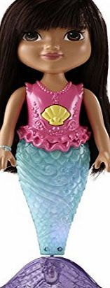 Dora Friends Sparkle and Swim Mermaid Dora Doll Get ready for a magical mermaid adventure with Dora Wind Dora s tail and press her seashell necklace to see her move through the water like a real mermaid As she swims Do (Barcode EAN = 0885850489614) http://www.comparestoreprices.co.uk/december-2016-week-1/dora-friends-sparkle-and-swim-mermaid-dora-doll.asp