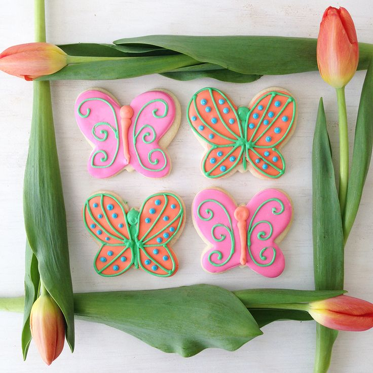 Butterfly Sugar Cookies for a spring birthday or shower. By Bake Sale Toronto
