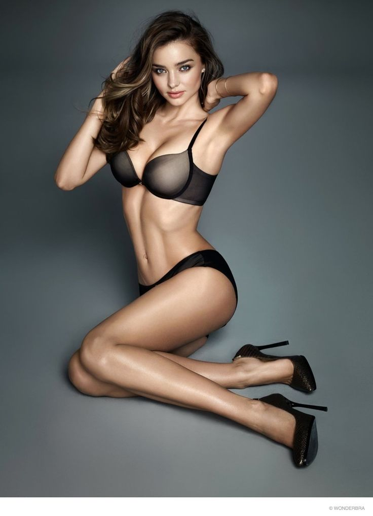 Top model Miranda Kerr is back for a new campaign from lingerie brand, WonderBra. The Australian babe, who recently covered Harper's Bazaar US, flaunts her toned body in a mix of bra and panty sets, slip covers as all as loungewear. With her hair in bombshell curls and makeup perfectly flawless, Miranda is a sight to ...