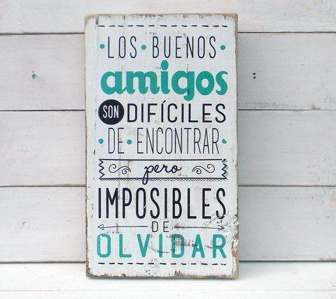 Letreros vintage amigos   LOS BUENOS AMIGOS... - comprar online