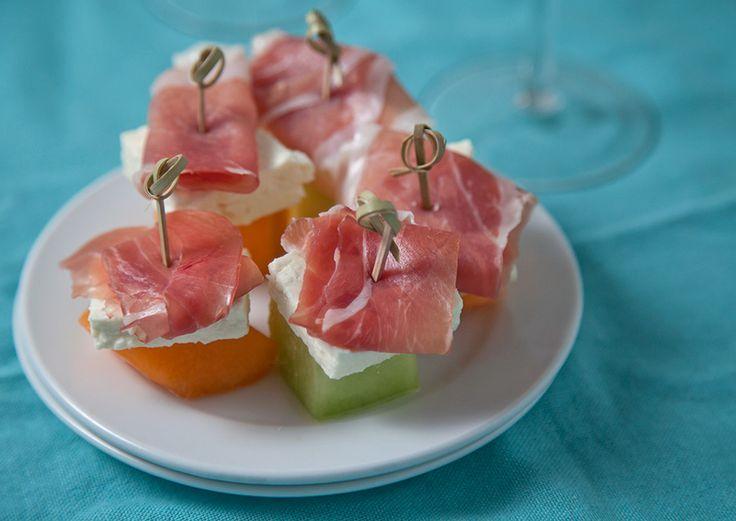 Cool off with a Cucumber-Melon Martini & Prosciutto-Melon-Feta Bites - The Artful Gourmet