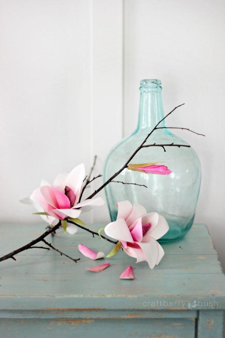 Comment fabriquer de magnifiques fleurs de magnolia! - Trucs et Bricolages