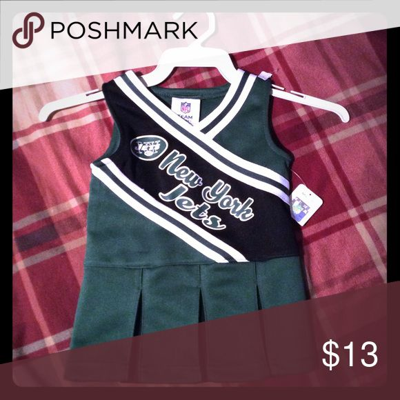 Official NY JETS Cheerleader Dress New with tags size 12 months NFL Dresses