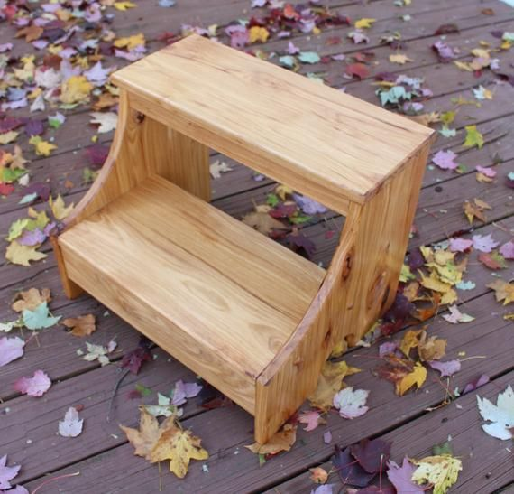 Rustic Hickory Wood Step Stool Adult Step Stool Etsy Wood Step Stool Step Stool Wood Steps