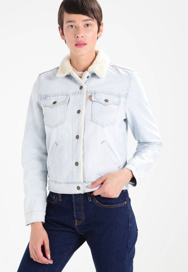 """Levi's®. ORANGE TAB SHERPA TRUCKER - Denim jacket - joy ride. Outer fabric material:100% cotton. Pattern:plain. Care instructions:machine wash at 30°C,Machine wash on gentle cycle. Sleeve length:23.0 """" (Size S). Back width:14.0 """" (Size S). Fit:regular. Our mo..."""