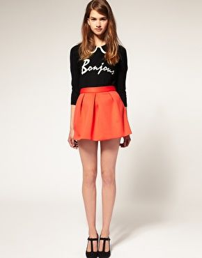 Pleat Skirt in Neoprene, $32.23 (I never thought I'd say this, but I really want a neoprene skirt!)