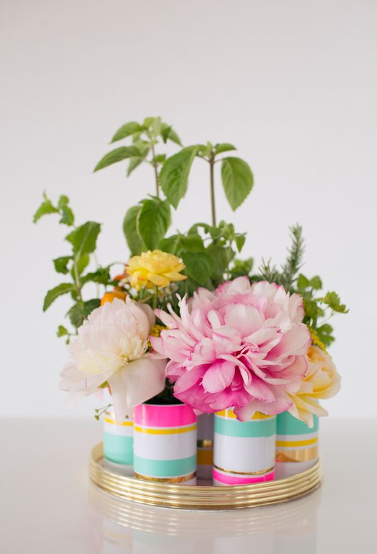 Cute, colorful and simple centerpeices