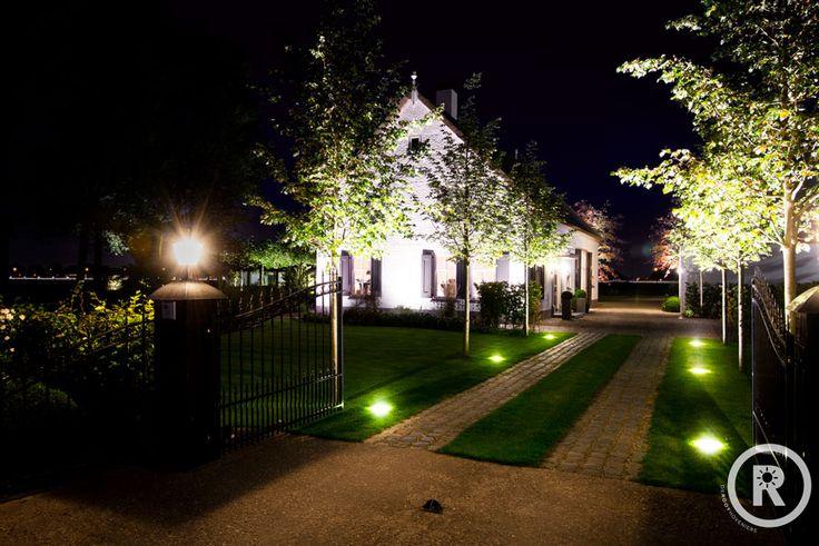 Tuininspiratie - De Rooy Hoveniers - landelijke tuin - boerderij tuin - oprit - buitenverlichting
