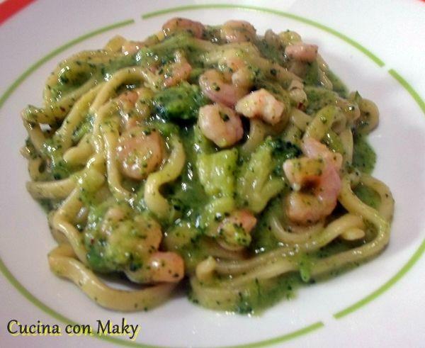 Scialatielli broccoli e gamberetti - Cucinaconmaky