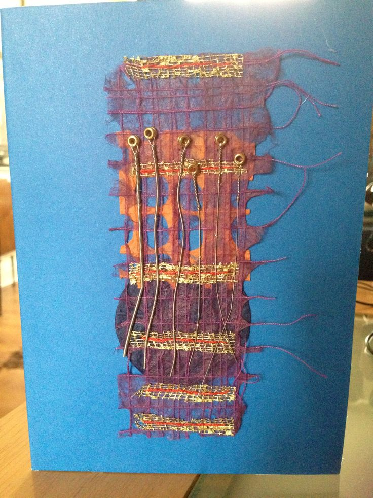 Guitar string birthday card