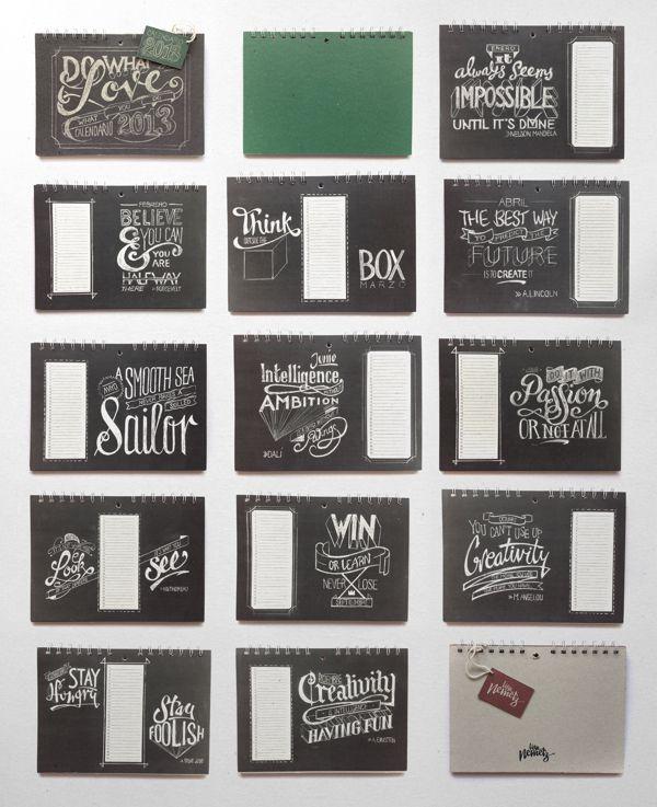 Chalkboard Lettering Calendar by Lisa Nemetz