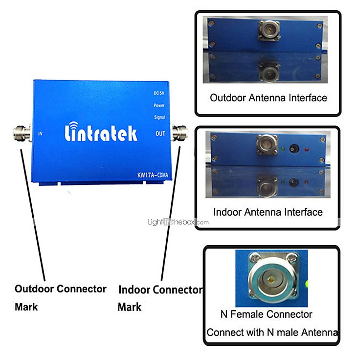 Photo By LightInTheBox Brand:Lintratek   Cell Phone Signal Booster GSM 850MHz Signal Repeater Home Usage CDMA 65dBi Mobile Phone Signal Amplifier Full Kits
