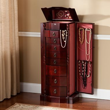 Jewelry Armoire, Cherry 8 Drawer - jcpenney $350 mirrored ...