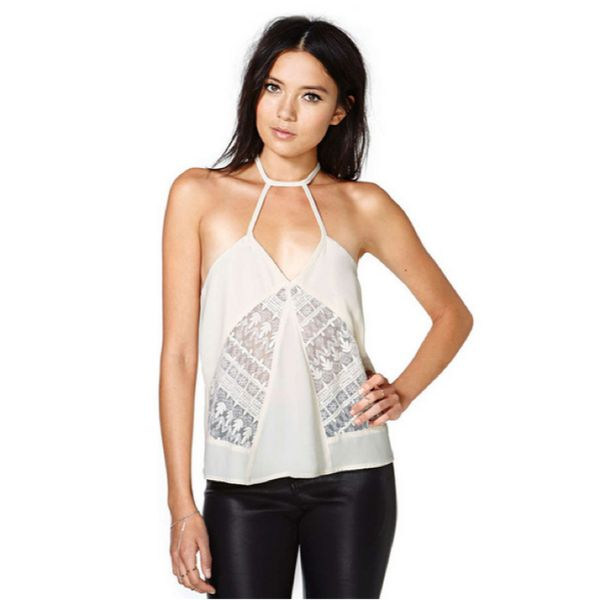 New Cream Lace Halter Top now available at Ruby Liu! ♥ http://rubyliuboutique.com/collections/lace