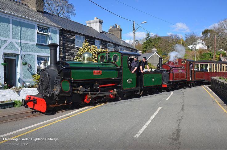 Engine Linda on the Welsh Highland Railway, North Wales